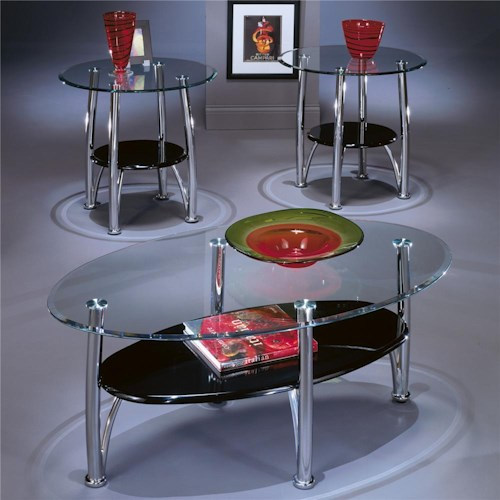 Signature Design by Ashley Dempsey Contemporary Occasional Table Group with 1 Cocktail Table and 2 End Tables