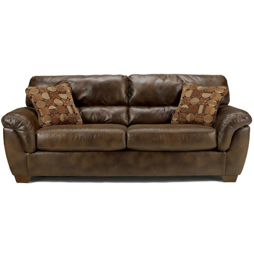 Ashley Furniture Frontier - Canyon  Stationary Sofa with Padded Arms