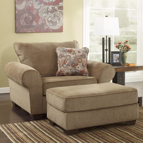 Ashley Furniture Galand - Umber Chair and a Half & Ottoman