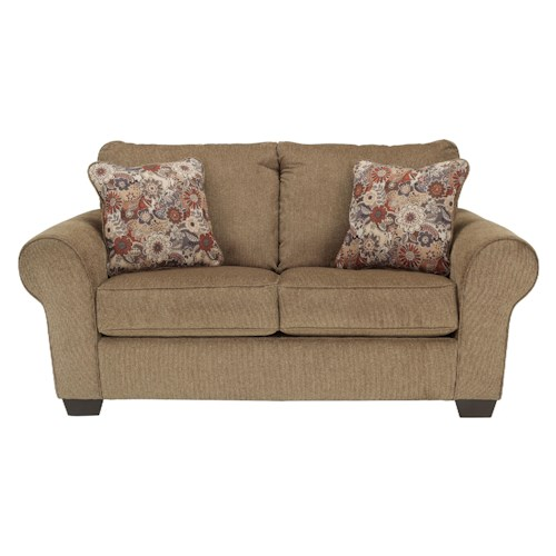 Ashley Furniture Galand - Umber Loveseat with Rolled Arms