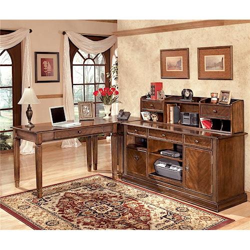 Signature Design by Ashley Hamlyn 4 Piece Modular L-Shaped Desk