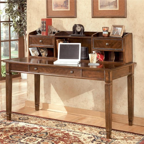 Signature Design by Ashley Hamlyn Large Leg Desk & Large Low Hutch