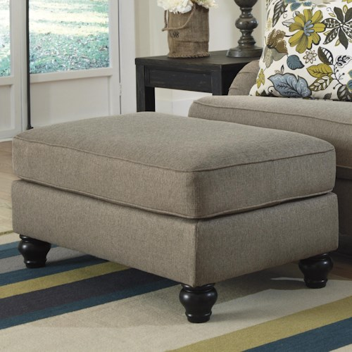 Ashley Furniture Hariston - Shitake Rectangular Ottoman