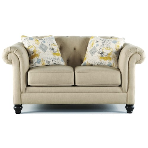 Ashley Furniture Hindell Park Transitional Chesterfield Loveseat