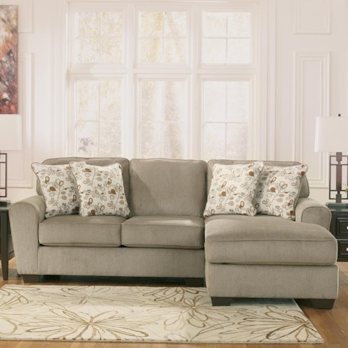 Ashley Furniture Patola Park - Patina 2-Piece Sectional with Right Chaise