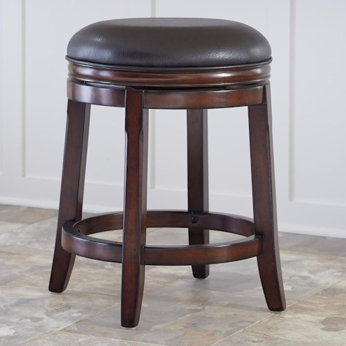 Ashley Furniture Porter House Counter Height Backless Upholstered Swivel Stool