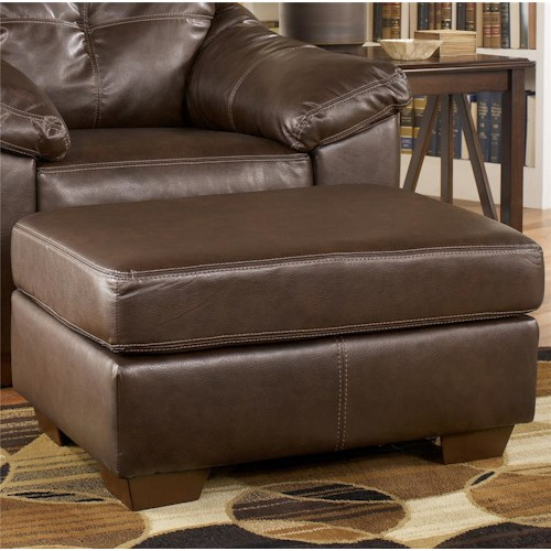 Ashley Furniture San Lucas - Harness Faux Leather Rectangular Upholstered Ottoman