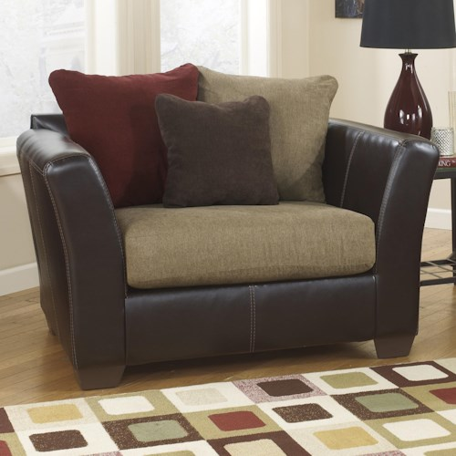 Ashley Furniture Sanya - Mocha Chair and a Half