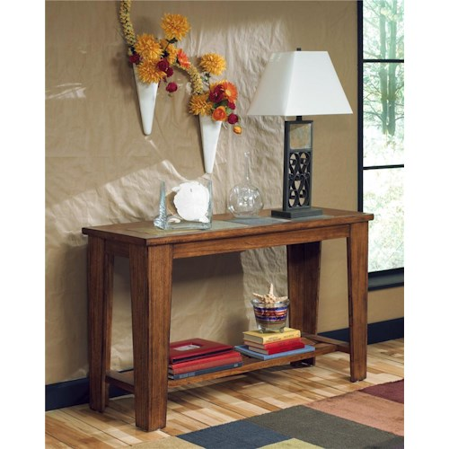 Signature Design by Ashley Toscana Sofa Table with Slate Inlays
