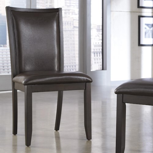 Ashley Furniture Trishelle Brown Faux Leather Dining Upholstered Side Chair