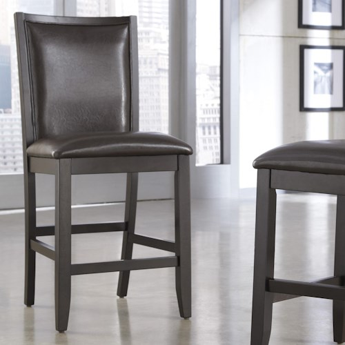 Ashley Furniture Trishelle Brown Faux Leather Upholstered Barstool