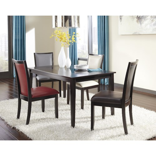 Ashley Furniture Trishelle 5-Piece Rectangular Dining Table Set with Upholstered Chairs