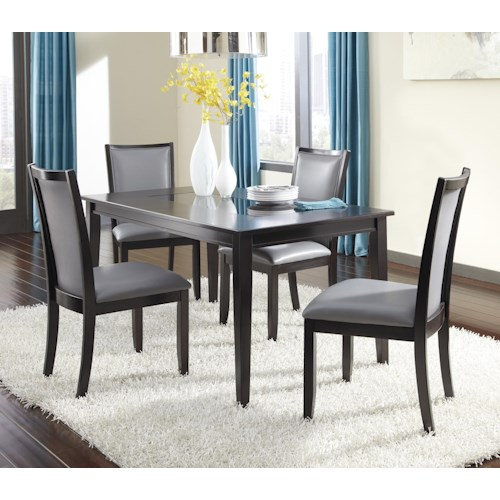 Ashley Furniture Trishelle 5-Piece Rectangular Dining Table Set with Gray Chairs