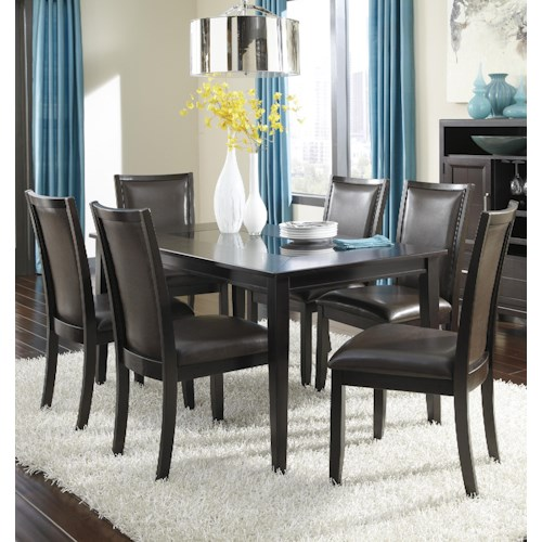 Ashley Furniture Trishelle 7-Piece Rectangular Dining Table Set with Brown Chairs