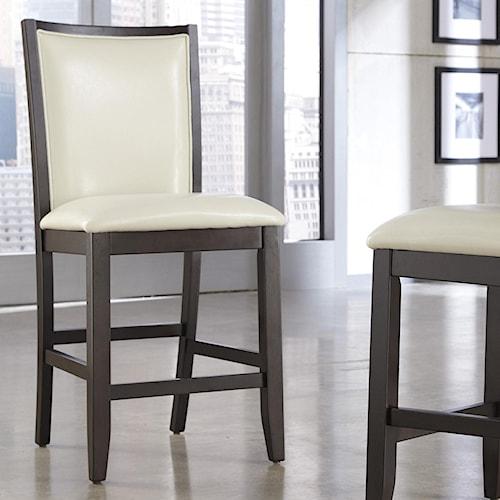 Ashley Furniture Trishelle Ivory Faux Leather Upholstered Barstool