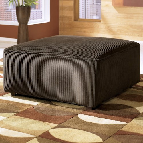 Ashley Furniture Vista - Chocolate Oversized Accent Ottoman