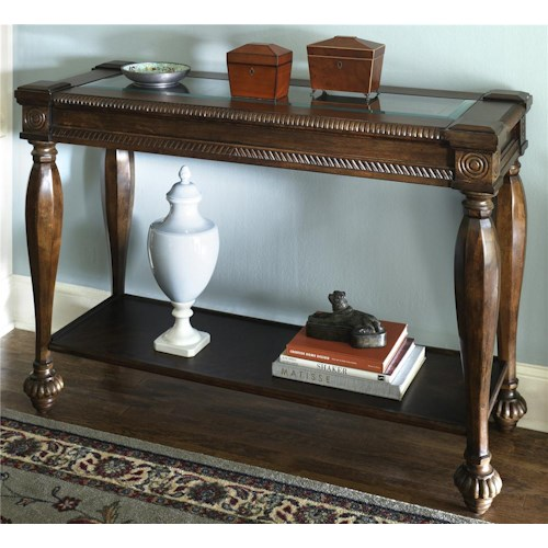 Signature Design by Ashley Mantera Sofa Table with Bottom Shelf