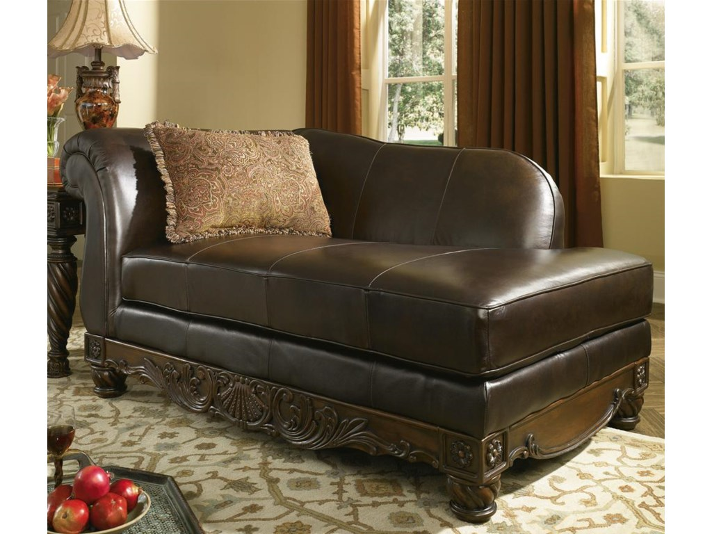 North Shore Living Room Set Millennium North Shore Dark Brown Upholstered Leather Chaise