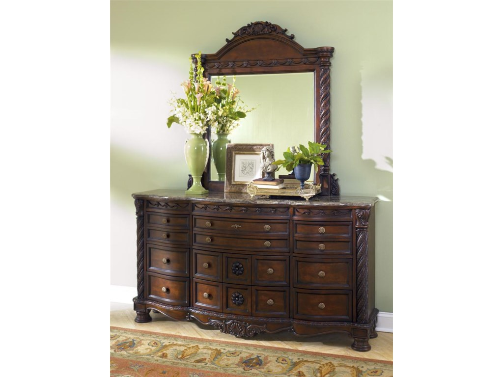 Dresser Shown with Mirror