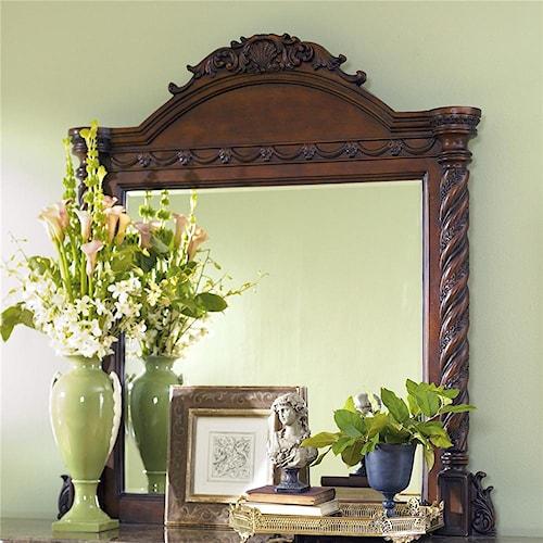 Millennium North Shore Dresser Mirror with Half Turned Posts