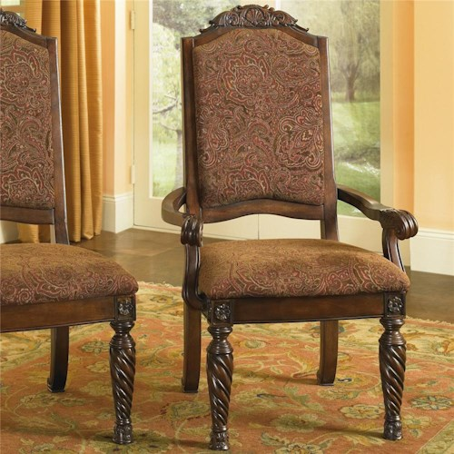 Millennium North Shore Upholstered Scroll Arm Chair