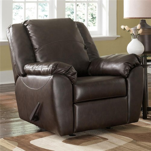 Millennium Franden DuraBlend - Cafe Contemporary Upholstered Rocker Recliner