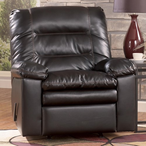 Millennium Knox DuraBlend - Coffee Casual Rocker Recliner