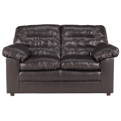 Millennium Knox DuraBlend - Coffee Casual Split Back Loveseat