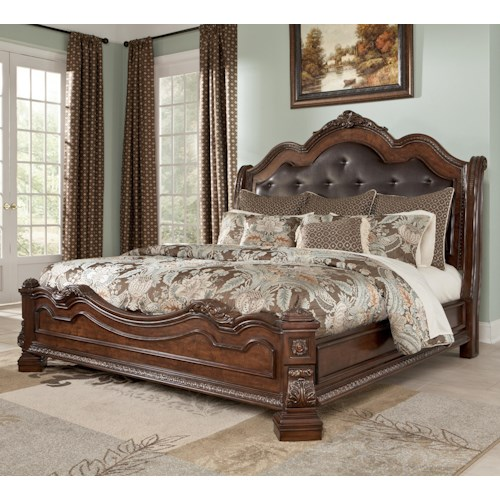 Millennium Ledelle Traditional California King Bed with Sleigh Headboard