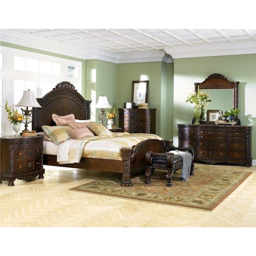 Millennium North Shore 4 Piece Queen Bedroom Group
