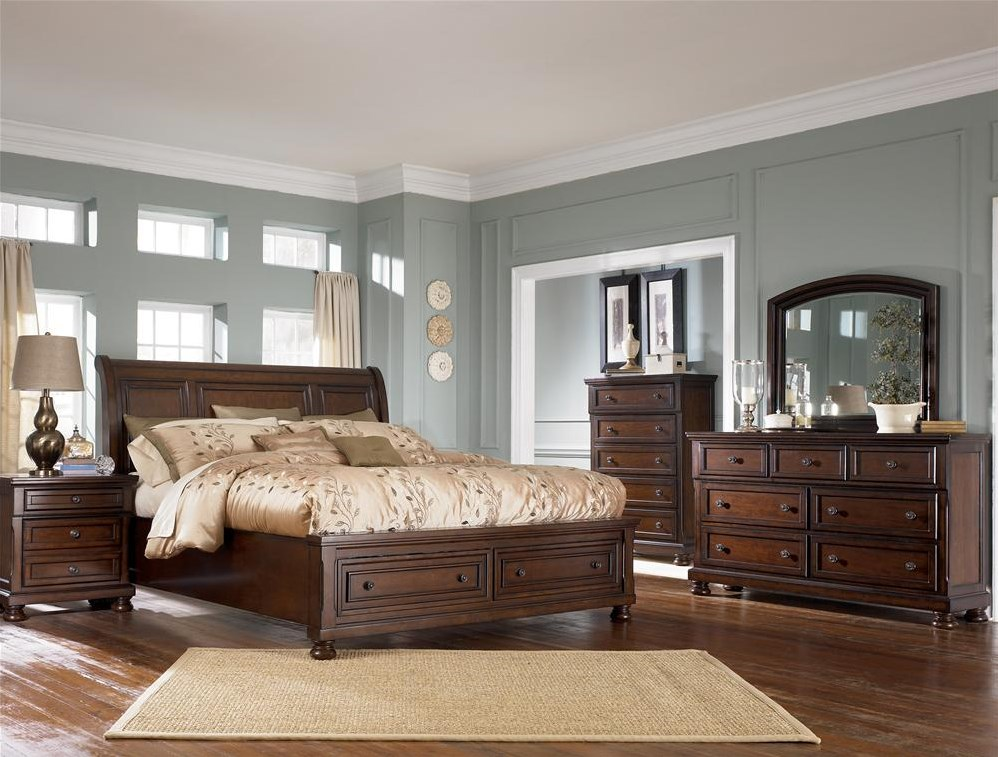 Shown with Nightstand,Chest & Sleigh Bed
