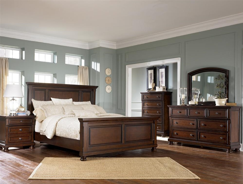 Shown with Nightstand, Dresser, Mirror & Panel Bed