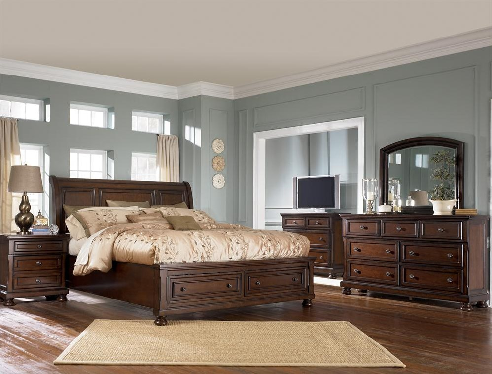 Shown with Sleigh Bed, TV Chest, Dresser & Mirror