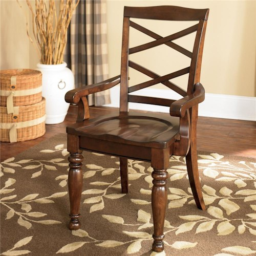 Ashley Furniture Porter House Double X Back Arm Chair