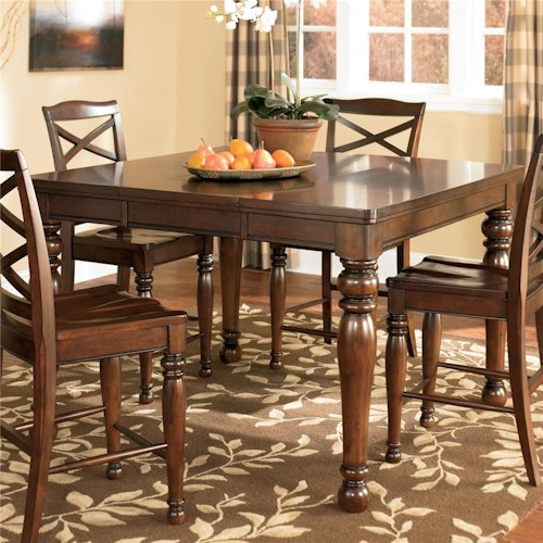 ashley furniture porter counter height extension table: extension table f