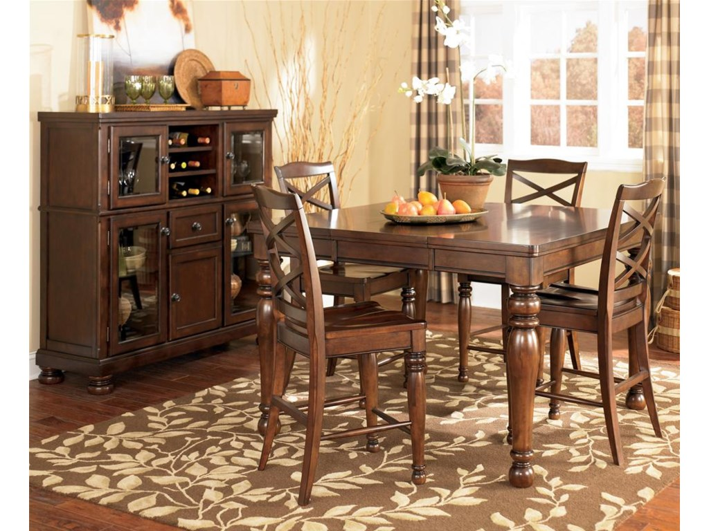 Shown with 4 Bar Stools & Server