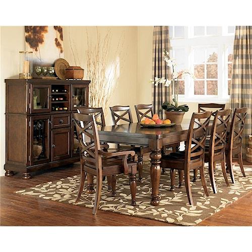 Ashley Furniture Porter 9 Piece Rectangular Extension Table & Chair Set