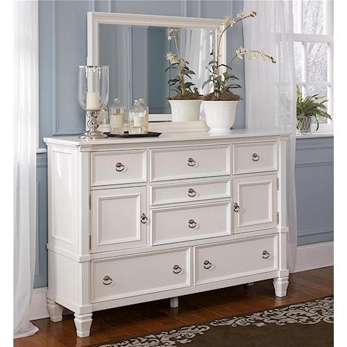 Millennium Prentice Dresser with Doors and Mirror Combination