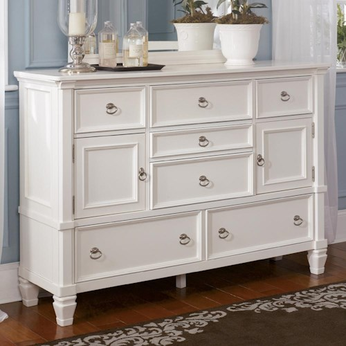 Millennium Prentice 7-Drawer Dresser with Glass Door Option