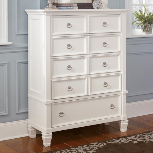 Millennium Prentice Five Drawer Dresser