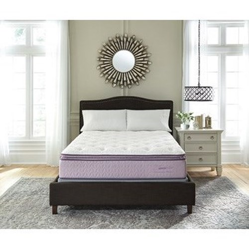 Ashley Sleep Lilac Anniversary Pillow Top Queen Pillow Top Mattress and Foundation