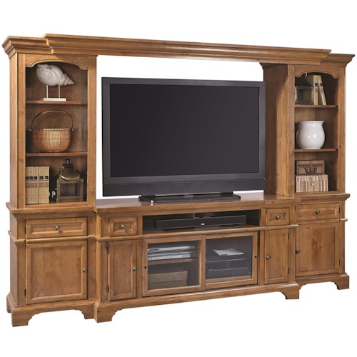 Aspenhome Alder Creek Wall Unit Entertainment Center