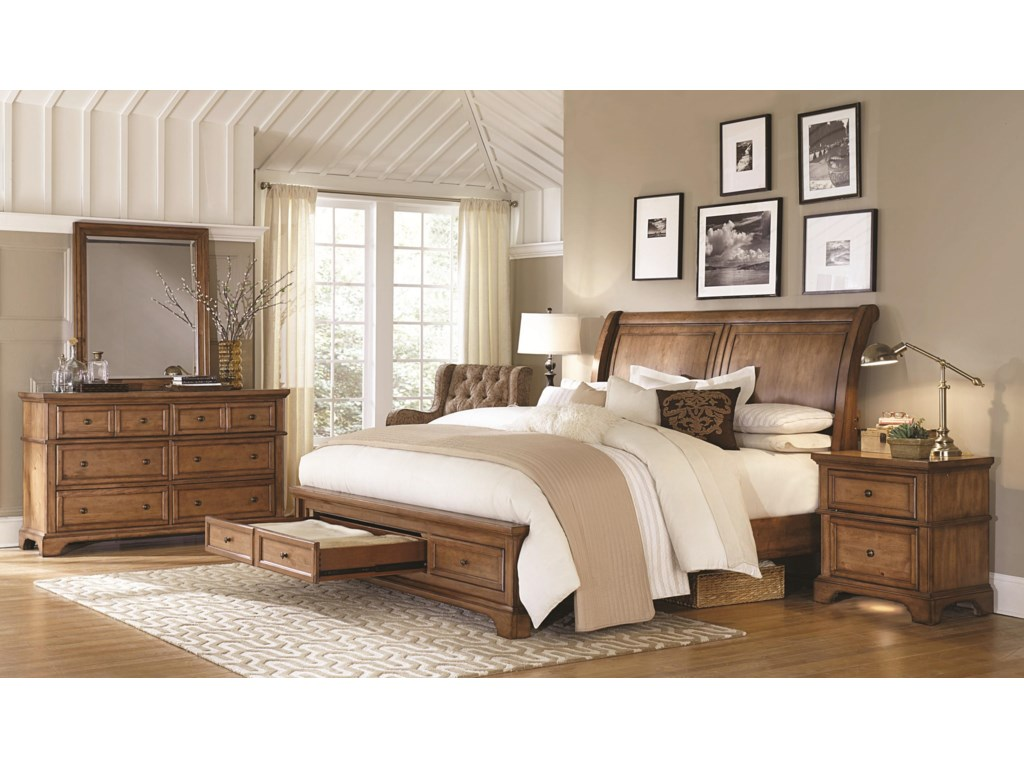 Footboard Contains Two Drawers for Storage