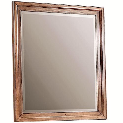 Morris Home Furnishings Walnut Creek Rectangular Mirror with Beveled Edges