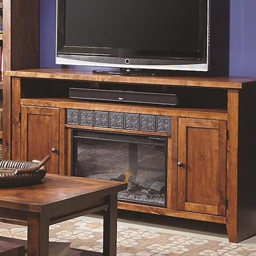 Morris Home Furnishings Alder Grove 2 Door Entertainment Console with Fireplace