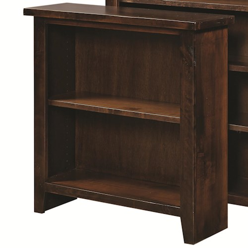 Morris Home Furnishings Alder Grove Small Bookcase with 2 Adjustable Shelves