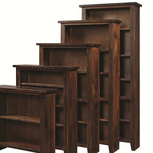 Aspenhome Alder Grove Open Bookcase with 5 Shelves