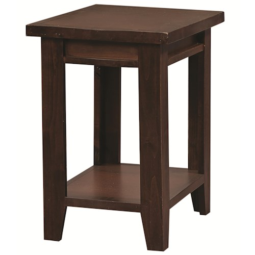 Morris Home Furnishings Alder Grove Chairside Table with Shelf