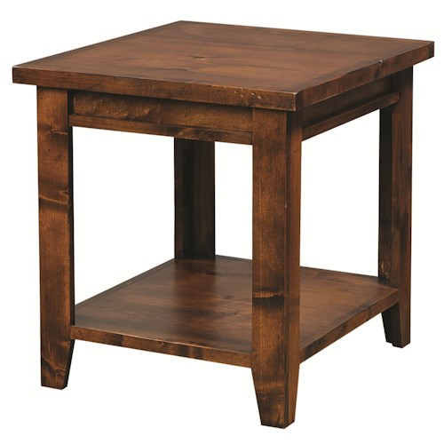 Morris Home Furnishings Alder Grove Rectangular End Table with Shelf
