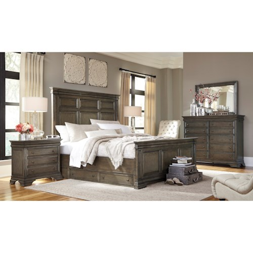 Morris Home Furnishings Arcadia California King Bedroom Group